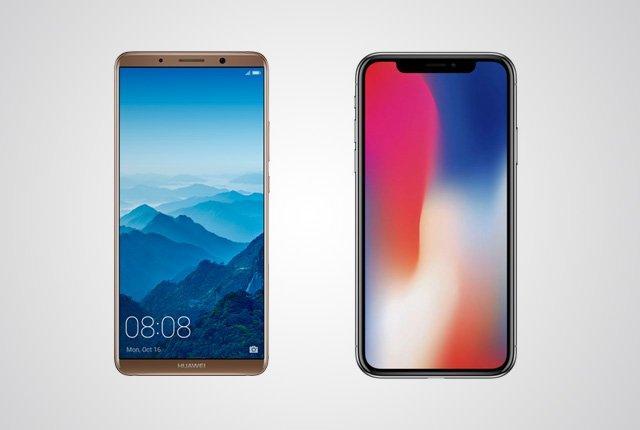 huawei mate 10 pro vs iphone x